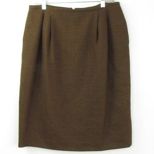Jones New York Houndstooth Wool Skirt 14